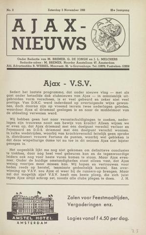 Clubnieuws Ajax (vanaf 1916) 1938-11-05