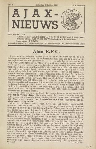 Clubnieuws Ajax (vanaf 1916) 1940-10-05