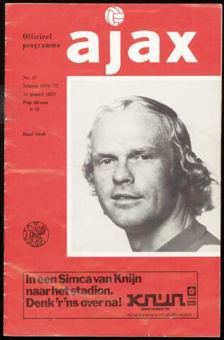 Programmaboekjes (vanaf 1934) 1977-01-16