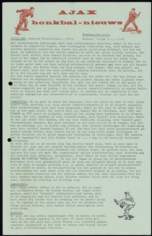 Honkbal nieuws (1963-1972) 1964-04-20