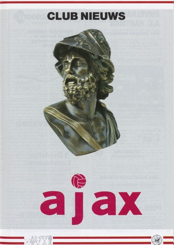 Clubnieuws Ajax (vanaf 1916) 1987-12-01