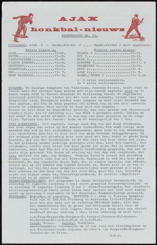 Honkbal nieuws (1963-1972) 1969-08-11