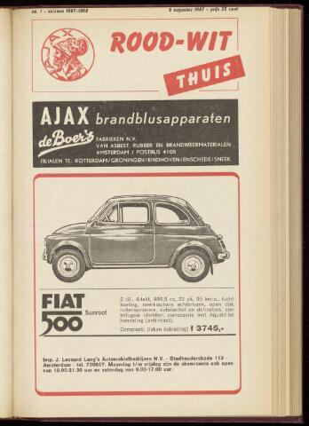 Programmaboekjes (vanaf 1934) 1967-08-06