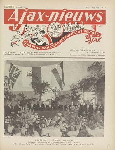 Clubnieuws Ajax (vanaf 1916) 1960-04-01