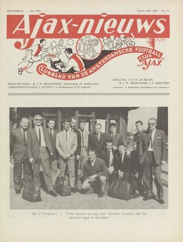 Clubnieuws Ajax (vanaf 1916) 1963-06-01