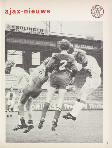Clubnieuws Ajax (vanaf 1916) 1974-10-01