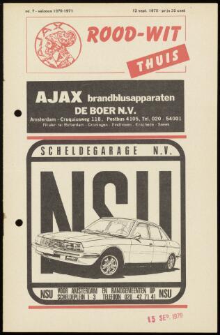Programmaboekjes (vanaf 1934) 1970-09-12