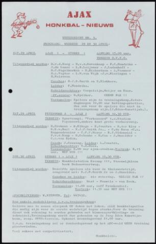 Honkbal nieuws (1963-1972) 1972-04-29
