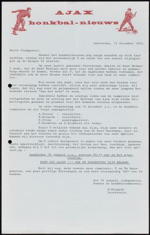 Honkbal nieuws (1963-1972) 1970-12-15