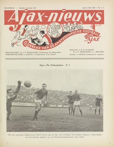 Clubnieuws Ajax (vanaf 1916) 1961-11-01
