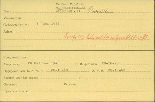 Ledenkaarten (1911-1989) 1948