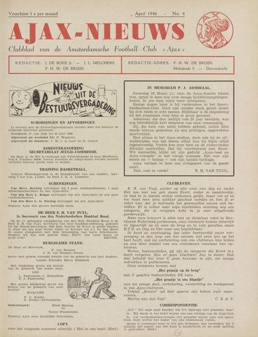 Clubnieuws Ajax (vanaf 1916) 1946-04-01
