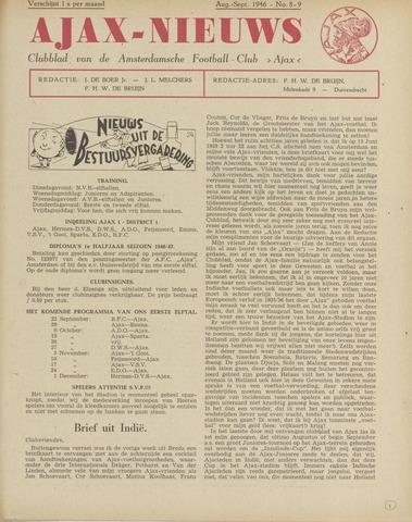 Clubnieuws Ajax (vanaf 1916) 1946-08-01