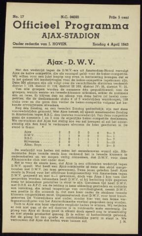 Programmaboekjes (vanaf 1934) 1943-04-04