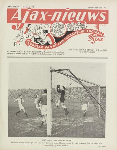 Clubnieuws Ajax (vanaf 1916) 1952-12-01