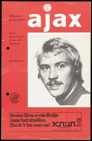Programmaboekjes (vanaf 1934) 1977-03-20