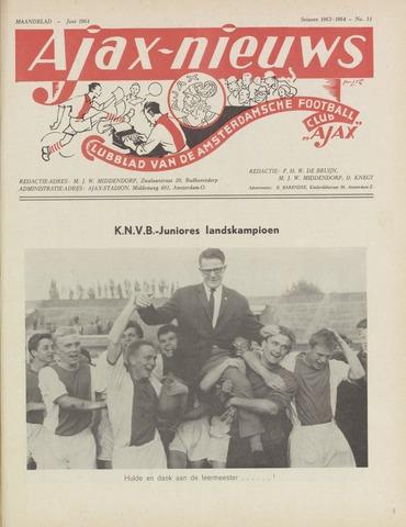 Clubnieuws Ajax (vanaf 1916) 1964-06-01