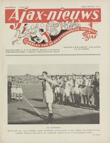 Clubnieuws Ajax (vanaf 1916) 1952-10-01