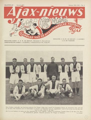 Clubnieuws Ajax (vanaf 1916) 1955