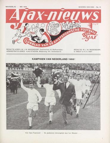 Clubnieuws Ajax (vanaf 1916) 1966-05-01