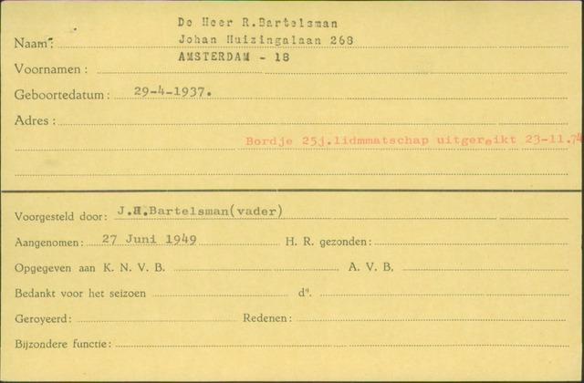 Ledenkaarten (1911-1989) 1949