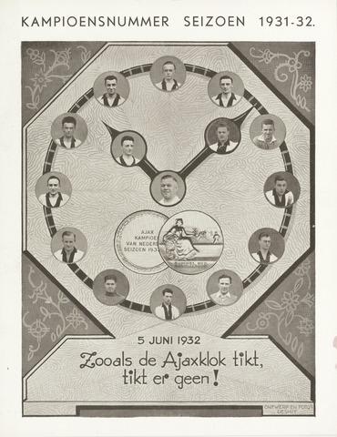 Clubnieuws Ajax (vanaf 1916) 1932-06-05
