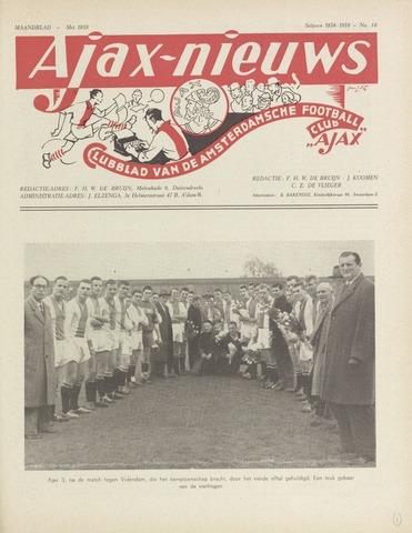 Clubnieuws Ajax (vanaf 1916) 1959-05-01
