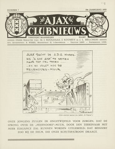Clubnieuws Ajax (vanaf 1916) 1935-03-01