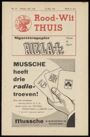Programmaboekjes (vanaf 1934) 1955-05-22