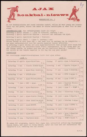 Honkbal nieuws (1963-1972) 1969-03-21