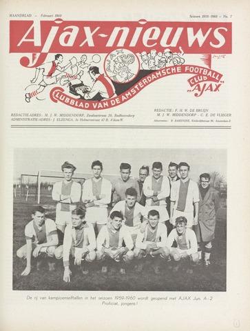Clubnieuws Ajax (vanaf 1916) 1960-02-01