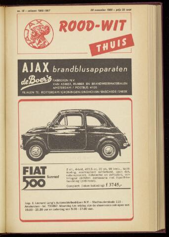 Programmaboekjes (vanaf 1934) 1966-11-20
