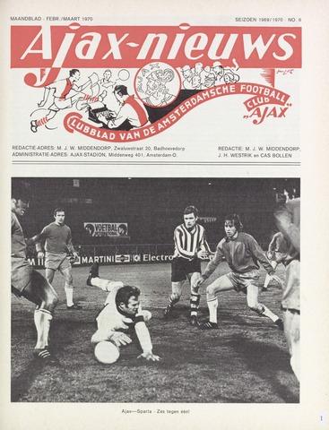 Clubnieuws Ajax (vanaf 1916) 1970-02-01