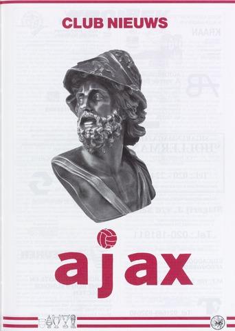 Clubnieuws Ajax (vanaf 1916) 1991-02-01