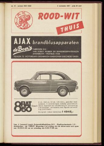 Programmaboekjes (vanaf 1934) 1967-11-05