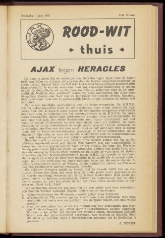 Programmaboekjes (vanaf 1934) 1961-06-01