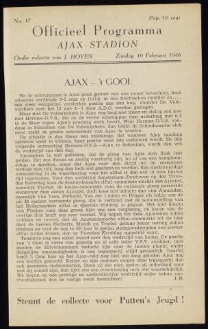 Programmaboekjes (vanaf 1934) 1946-02-10