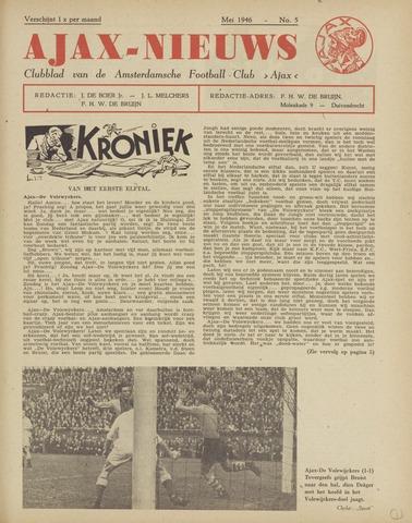 Clubnieuws Ajax (vanaf 1916) 1946-05-01