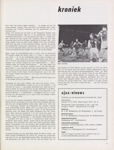 Clubnieuws Ajax (vanaf 1916) 1978-03-01