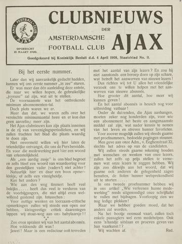 Clubnieuws Ajax (vanaf 1916) 1917-02-01