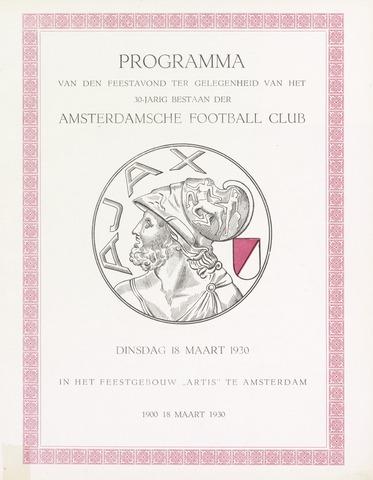 Clubnieuws Ajax (vanaf 1916) 1930-03-18