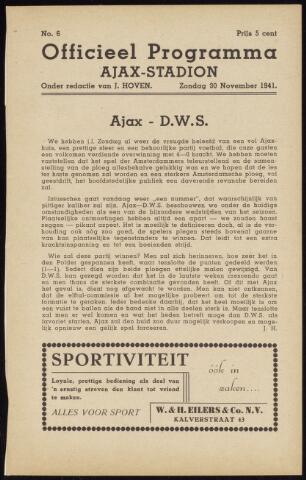 Programmaboekjes (vanaf 1934) 1941-11-30