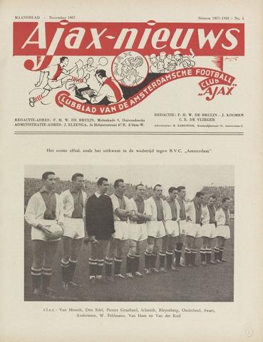 Clubnieuws Ajax (vanaf 1916) 1957-11-01