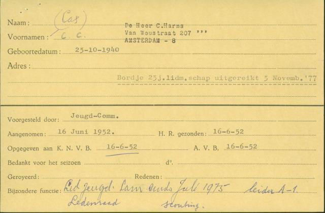 Ledenkaarten (1911-1989) 1952