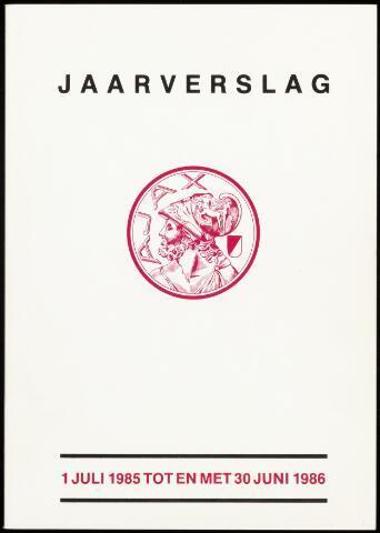 Jaarverslagen Vereniging (vanaf 1964) 1986-06-30
