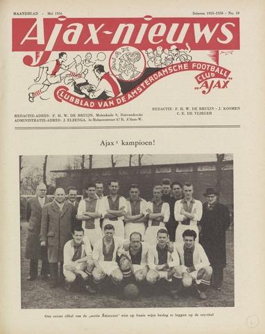 Clubnieuws Ajax (vanaf 1916) 1956-05-01