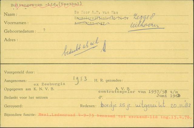 Ledenkaarten (1911-1989) 1953