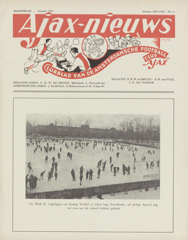 Clubnieuws Ajax (vanaf 1916) 1953-01-01