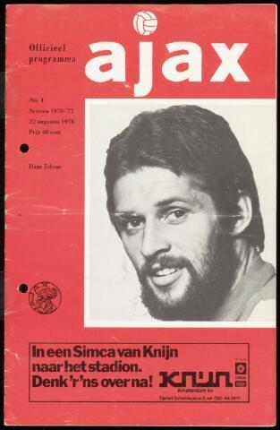 Programmaboekjes (vanaf 1934) 1976-08-22