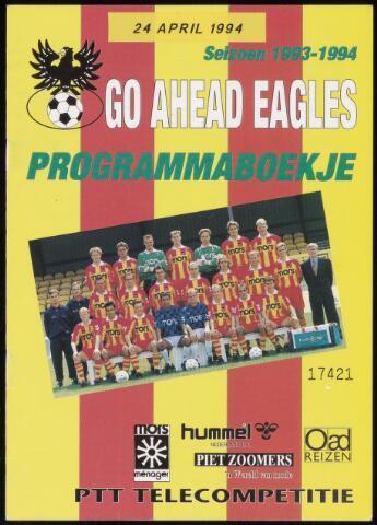 Programmaboekjes (vanaf 1934) 1994-04-24